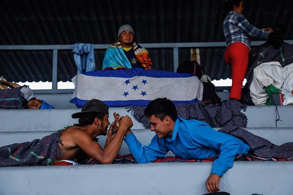 Los migrantes son de Honduras, Guatemala y El Salvador, y se espera la llegada de más centroamericanos. FOTO: PABLO SALAZAR