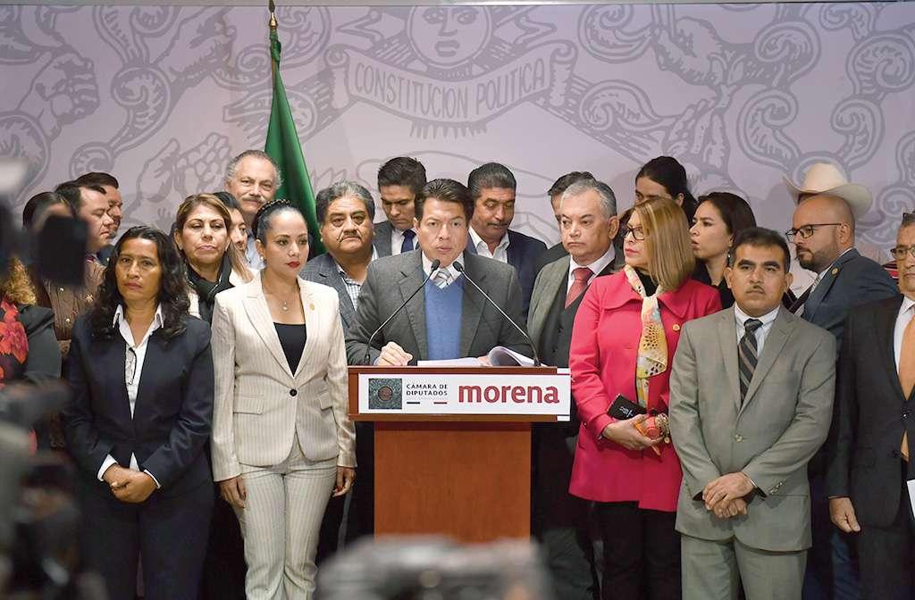 La bancada de Morena impulsó la aprobación de la iniciativa en la Cámara de Diputados. Foto: Pablo Salazar Solís / El Heraldo de México.
