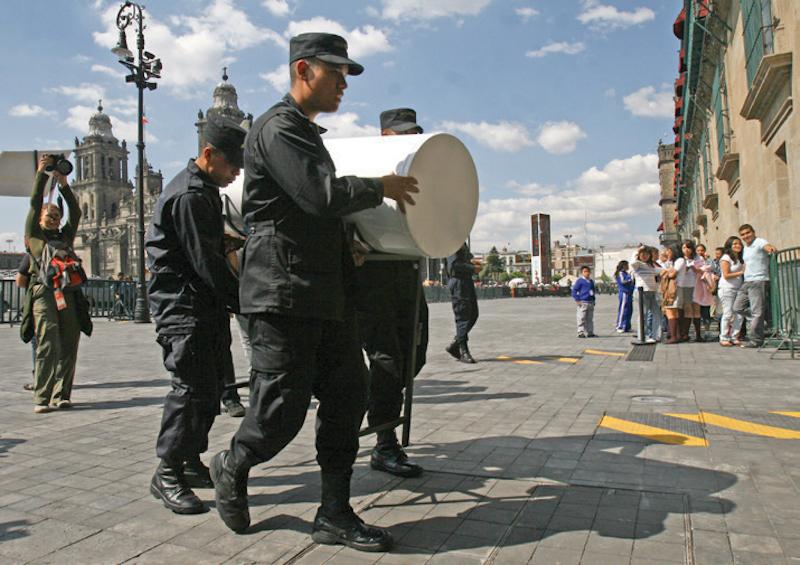 Este tipo de tecnología, fue implementado en Palacio Nacional desde 2010. FOTO: ISAAC ESQUIVEL/CUARTOSCURO.COM