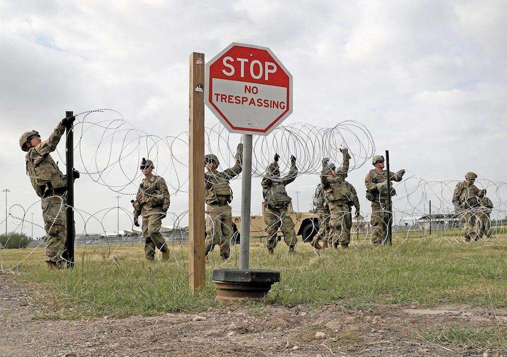Tropas de Estados Unidos aseguran la frontera entre México y Texas