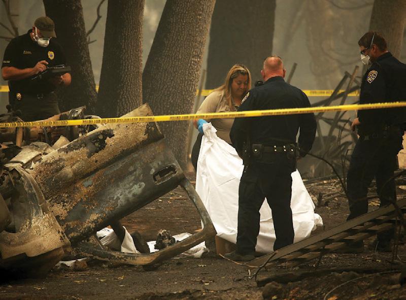 En Paradise siguen hallando cuerpos calcinados. Foto: AFP.