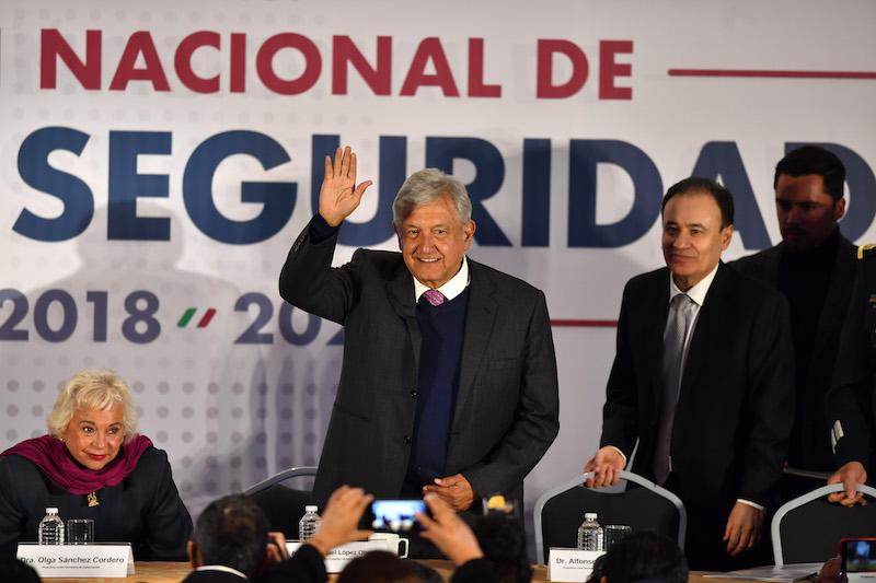 El presidente electo presentó el llamado Plan de Seguridad Nacional. Foto: Pablo Salazar Solís / El Heraldo de México.
