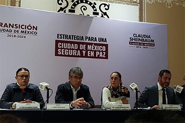 Sheinbaum también presentó a su gabinete de Seguridad, en donde Tomás Pliego será el coordinador de Seguridad Ciudadana y Procuración de Justicia.