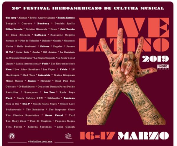 Este podría ser el cartel del Vive Latino para 2019. FOTO: TWITTER