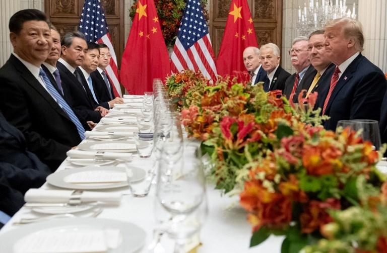 Xi Jinping y Donald Trump cenaron para hablar de la guerra arancelaria. Foto: AFP