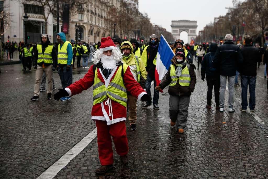 DESCONTENTO. De acuerdo con la prefectura de policía de París, también hubo una baja en el número de detenidos y heridos. Foto: AFP