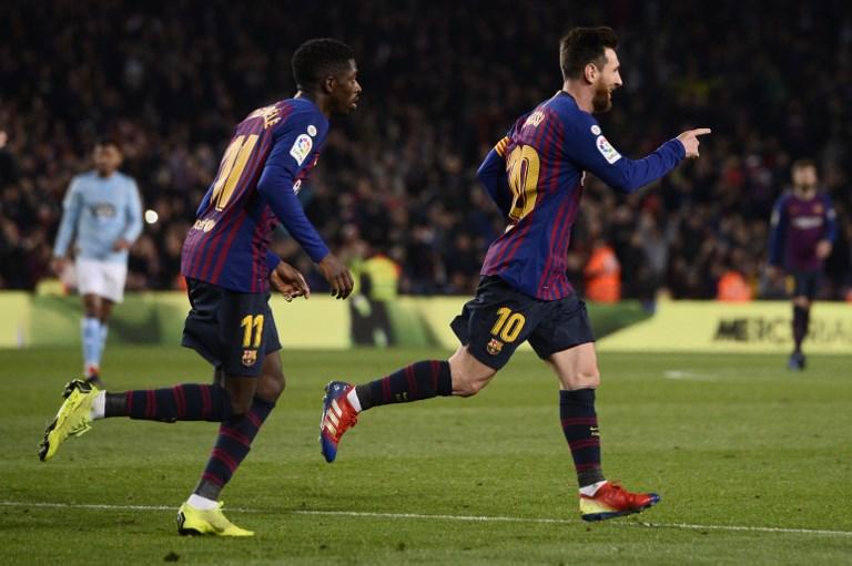 Lionel Messi mantiene su nivel, para beneficio culé. FOTO: AFP