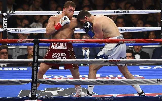 CONSOLIDADO. El mexicano Saúl Álvarez conquistó el Madison Square Garden. Foto:  MEXSPORT