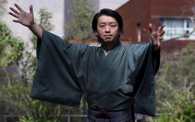 TALENTO. Shigeyama es actor de teatro tradicional japonés Kyogen. Foto: VÍCTOR GAHBLER