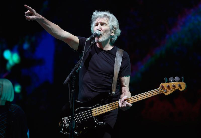 El cantante / compositor / bajista inglés Roger Waters se presentó en el Palacio de los Deportes en la Ciudad de México el 28 de noviembre de 2018.  Foto: AFP.