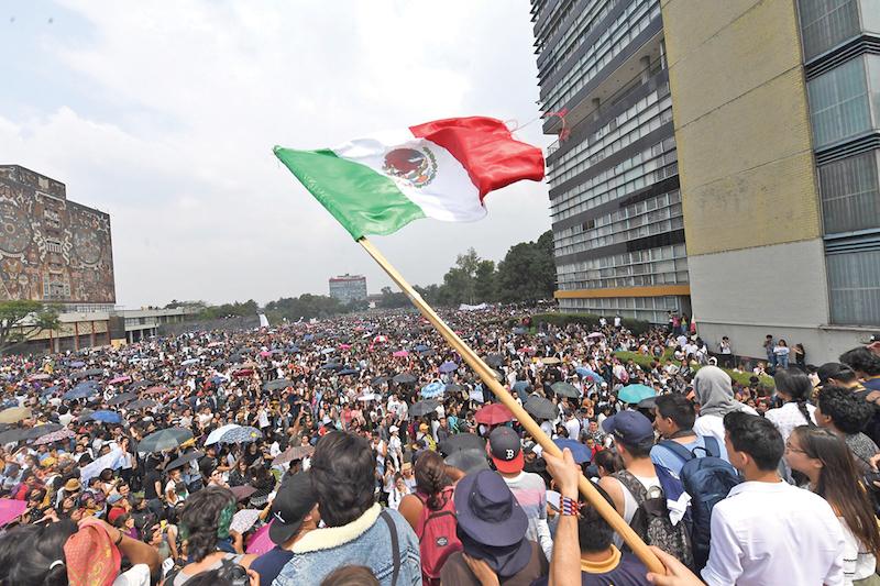 La comunidad universitaria articuló su movimiento de tal forma que Rectoría lo reconoció como legítimo. Foto: Pablo Salazar / El Heraldo de México.