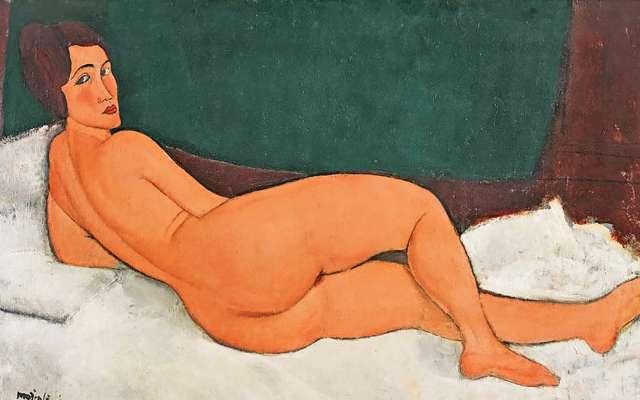 ORIGINALIDAD. Esta obra, Desnudo acostado, es la más cara del mundo. Foto: Especial