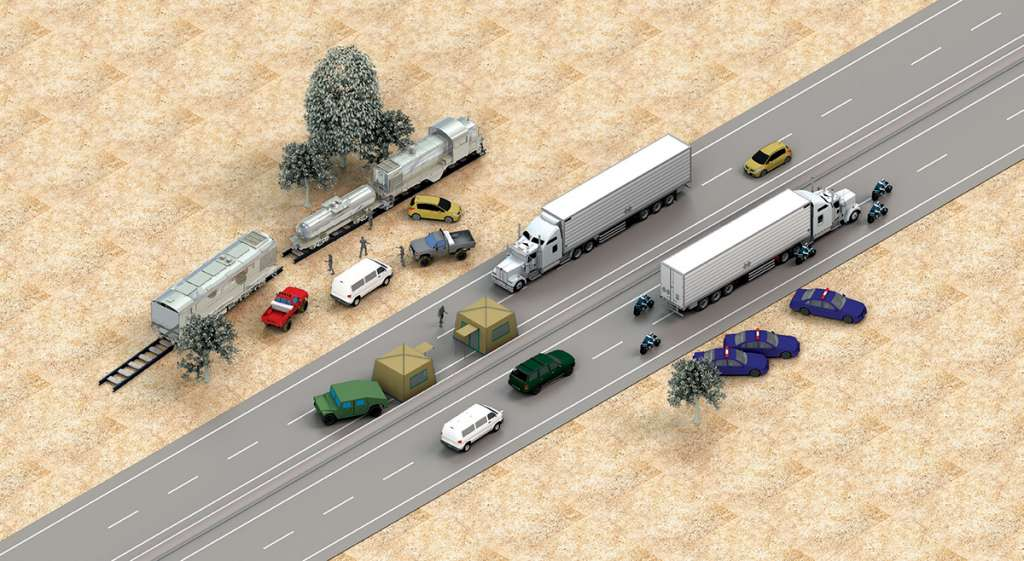 NUEVAS FORMAS. El tren padece más descarrilamientos y los camiones se han visto afectados en sus sistemas de seguridad.