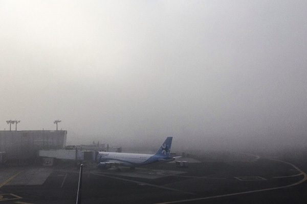 Durante casi 4 horas fueron suspendidas las operaciones en el AICM. FOTO: CUARTOSCURO