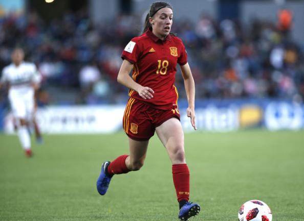 Claudia Pina abrió el marcador en el minuto 16 FOTO: EFE