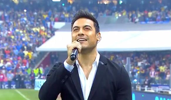 En el partido de ida la intérprete fue Ana Bárbara, quien tuvo problemas para cantar.