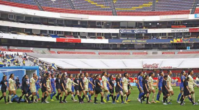 Las campeonas azulcremas sólo pudieron disputar dos partidos en el Estadio Azteca; el último en la ida de la Final. FOTO: MEXPORT