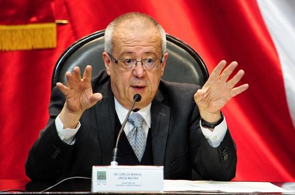Carlos Urzúa, secretario de Hacienda, entregó el Paquete Económico 2019. Foto: Cuartoscuro