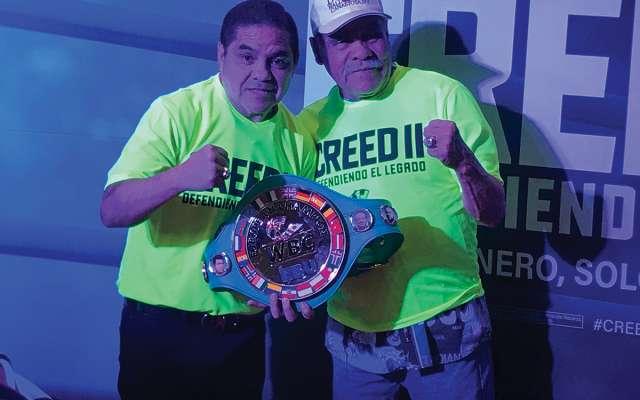 CINE. Durante la premier especial asistieron varios boxeadores retirados. Foto: Especial