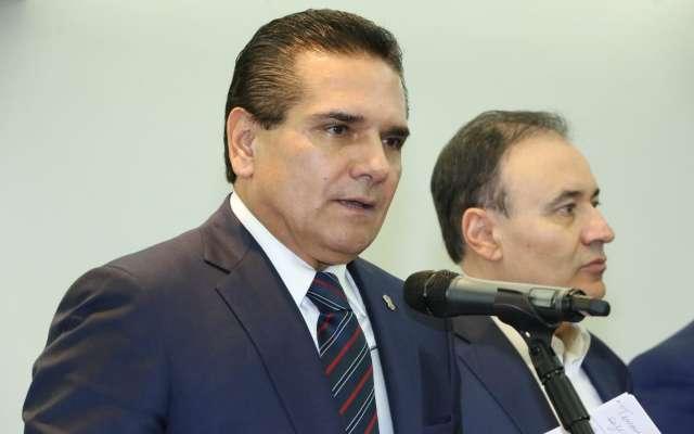 Aureoles y Durazo dieron a conocer que en el encuentro se lograron importantes acuerdos para trabajar en una estrategia conjunta en materia de seguridad. Foto: Especial.