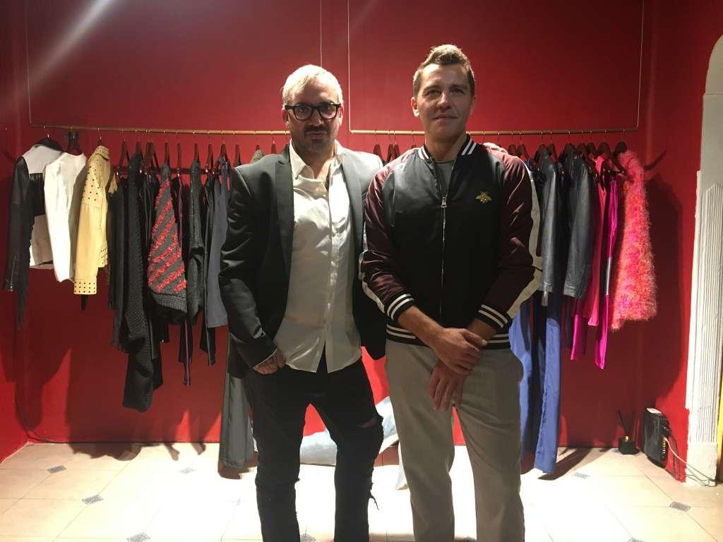 El artista plástico Nicolás Sotelo y el diseñador de moda Gustavo Kornelakis
