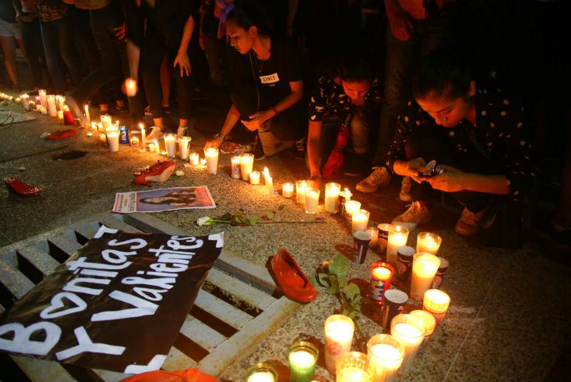Colectivos de mujeres han tomado las calles para   protestar por el alto número de feminicidios FOTO: Cuartoscuro