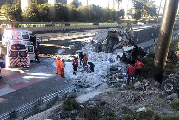 Los primero reportes indican que el saldo de este accidente fue de cuatro personas lesionadas.