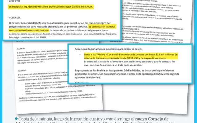 EL NUEVO CONSEJO DE ADMINISTRACIÓN DEL GRUPO AEROPORTUARIO DE LA CIUDAD DE MÉXICO DECIDIÓ MANTENER LA CONSTRUCCIÓN DEL NAIM.