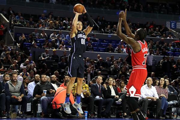 Durante el tercer periodo, los Bulls comenzaron a sorprender. FOTO: @NBAMEX