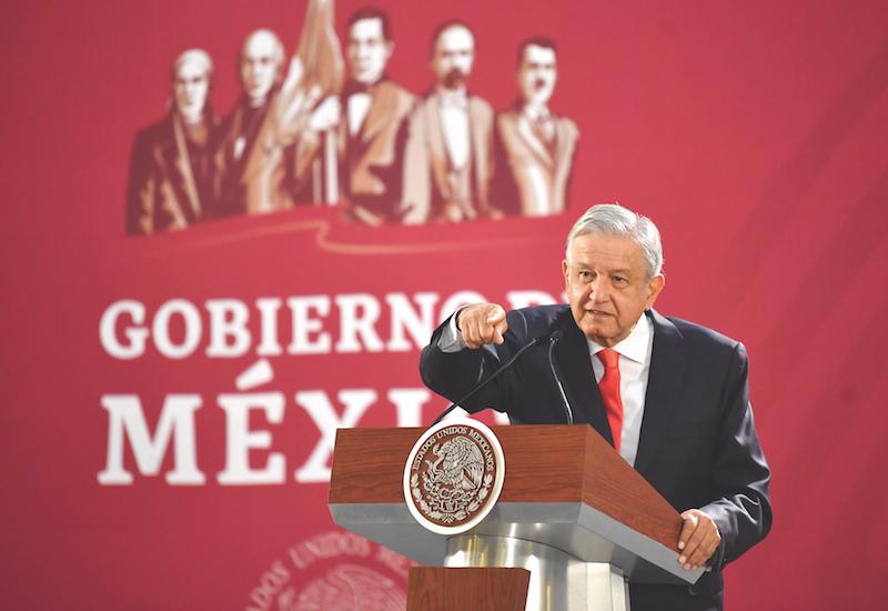 Todas las mañanas, el Presidente da conferencia de prensa en Palacio Nacional.Foto: Pablo Salazar Solís / El Heraldo de México