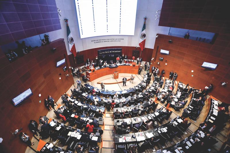 En el Senado se aprobó el 15 de noviembre. Foto Nayeli Cruz