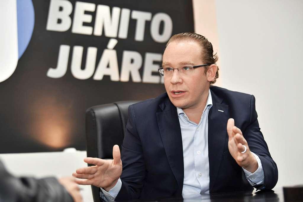 El alcalde panista solicitará al gobierno local mil 46 millones de pesos más de los que el Presupuesto dicta. Foto: Edgar López / El Heraldo de México.