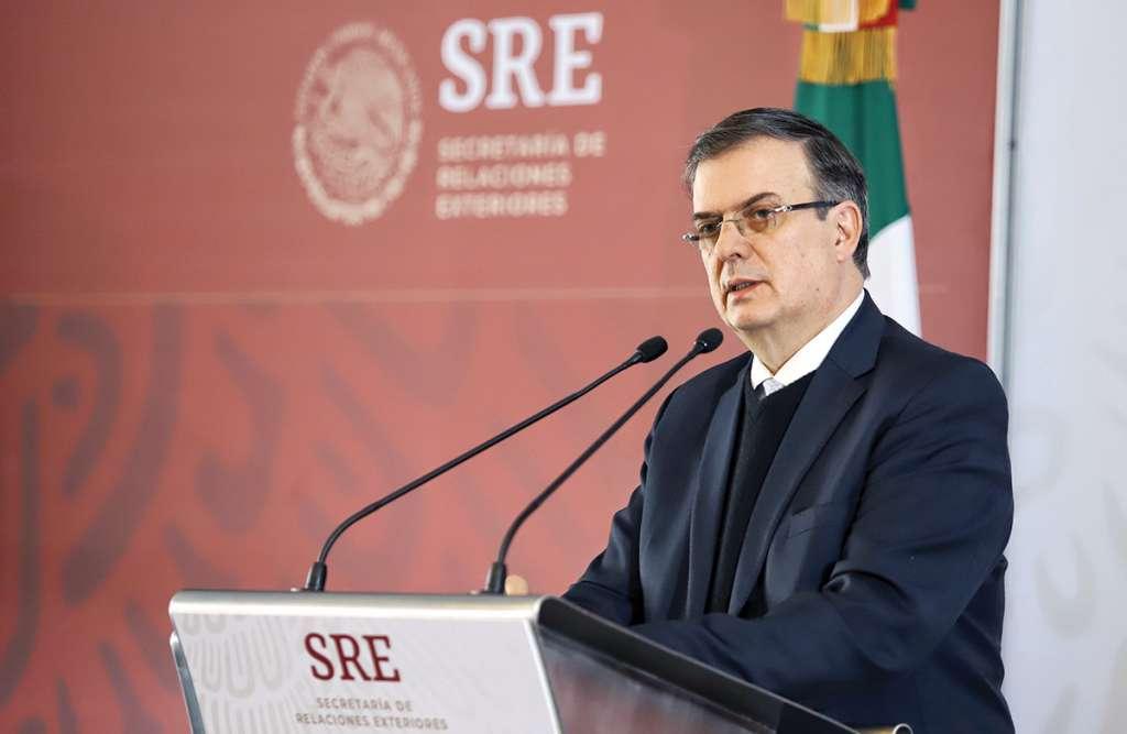 Marcelo Ebrard dio detalles de la estrategia en cuatro acciones. Foto: Víctor Gahbler / El Heraldo de México.