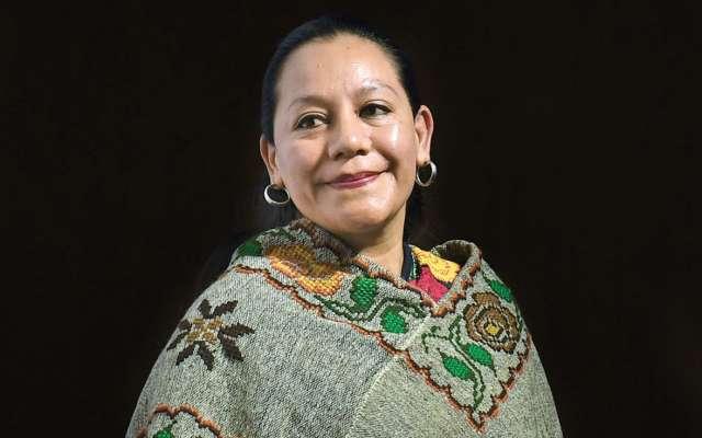 María Luisa Albores, secretaria del Bienestar. Foto: Foto: Leslie Pérez / El Heraldo de México
