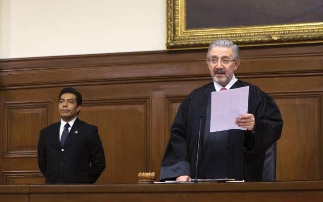 El ministro Luis María Aguilar dejará la presidencia de la SCJN. El próximo jueves rinde su cuarto informe anual de labores. FOTO: TERCERO DÍAZ /CUARTOSCURO.COM