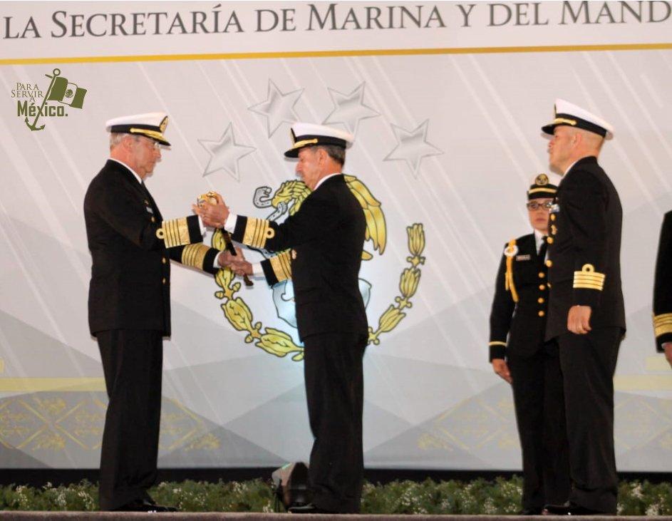 El Almirante José Rafael Ojeda Durán toma posesión como nuevo Secretario de Marina. Foto: Especial