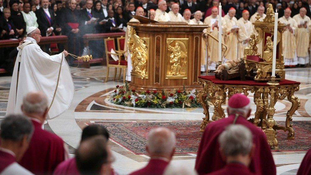 """El Papa Francisco: """"Dejémonos sorprender por Jesús en esta Navidad. Foto: Vatican News."""