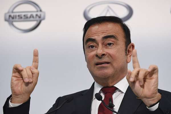 La fiscalía presentó el lunes una acusación formal por ocultar pagos millonarios pactados con Nissan Motor entre marzo de 2011 y de 2015. FOTO: AFP
