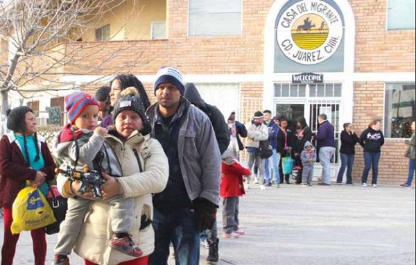 Al menos tres días a la semana, reciben a grupos de entre 60 y 200 repatriados. Foto:  HÉRIKA MARTÍNEZ PRADO