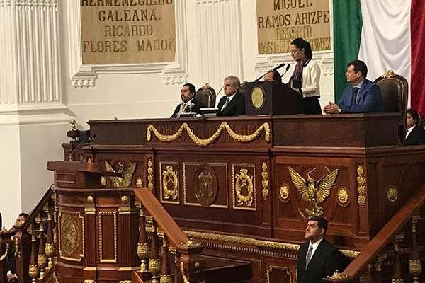Claudia Sheinbaum rindió protesta como jefa de Gobierno.  FOTO: CONGRESO
