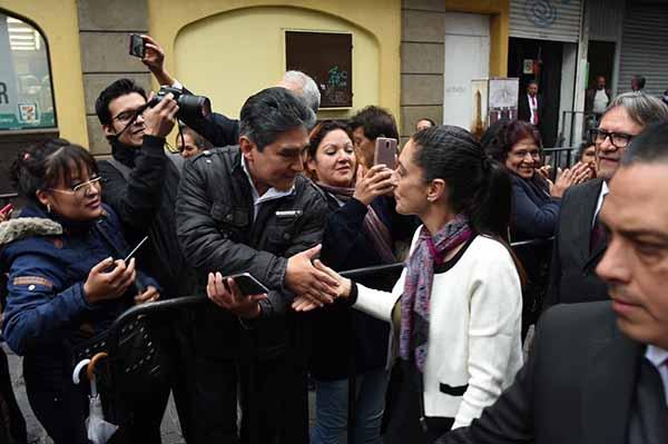 Claudia Sheinbaum llegó al Congreso pasadas las 09:00 horas. FOTO: Congreso CDMX