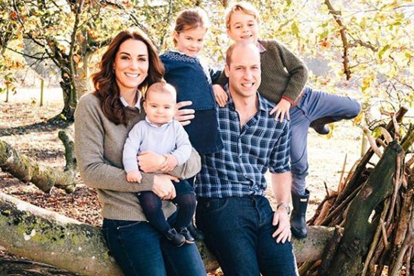 Los más pequeños de la realeza británica robaron cámara. FOTO: INSTAGRAM