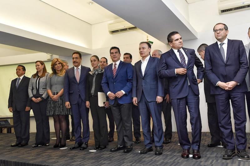 Ayer se realizó la segunda reunión de la Conago con miembros del gabinete de AMLO. Foto: Edgar López / El Heraldo de México.
