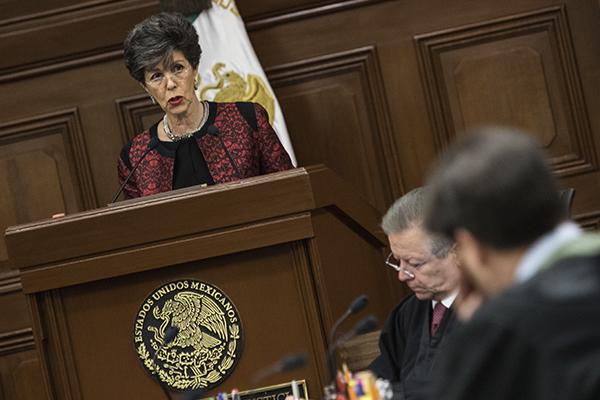 """Acusa que la magistrada presidenta ha """"tomado un rol de parte"""". FOTO: CUARTOSCURO"""