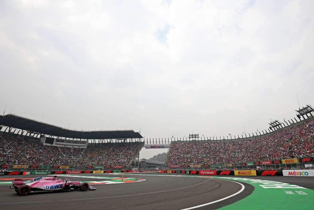 VOLADO. La carrera en el Autódromo Hermanos Rodríguez está en manos del Presidente. Foto: RACING POINT FORCE INDIA