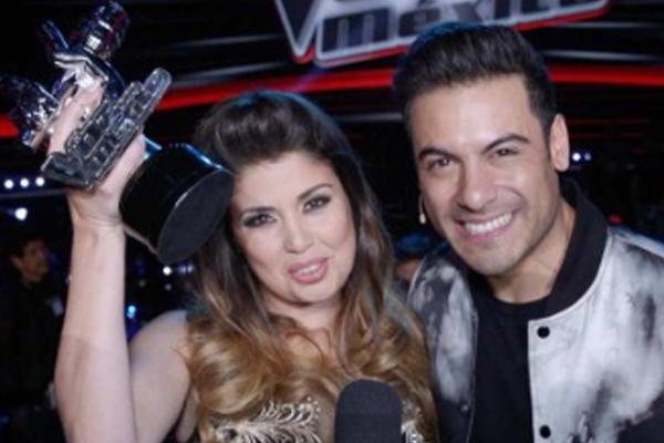 Cristina Ramos, del equipo del cantante mexicano Carlos Rivera fue la ganadora de la séptima temporada. FOTO: INSTAGRAM