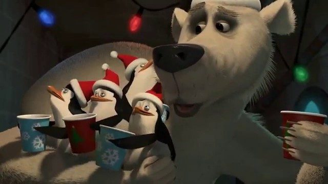 """Pingüinos de Madagascar: Misión navideña"",  Foto: DreamWorks Animation"