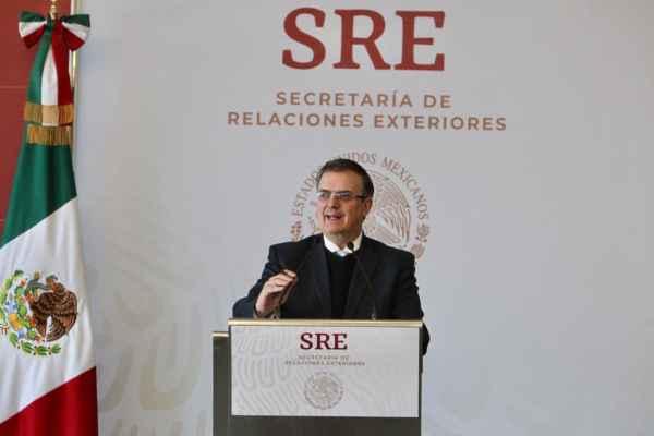 El canciller dijo que elGobierno de Méxicoy el de EUtrabajarán conjuntamente a través de instituciones financieras internacionales. Foto: SRE