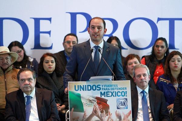 Marko Cortés, presidente nacional del Partido Acción Nacional. FOTO: NOTIMEX