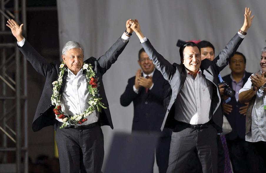 Como es su costumbre, López Obrador improvisó su discurso en Veracruz. Foto: Pablo Salazar Solís / El Heraldo de México.